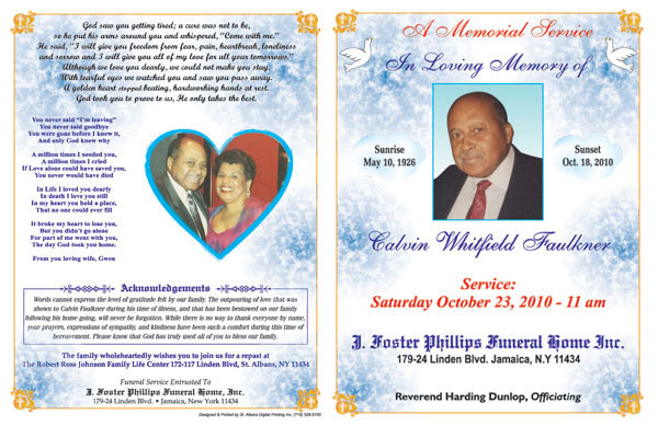 Obituaries Samples http://www.stalbansprinting.com/obituaries.php