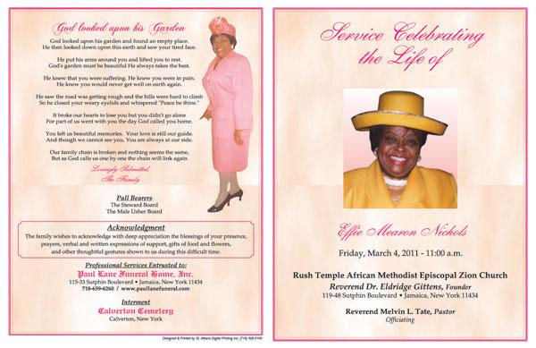 sample obituary template .