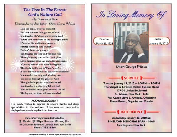 Sample Obituaries Obituary Samples Obituary Programs 2015 | Zonanews ...